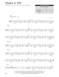 drums sheet music shake it off drum tab by by taylor swift drums 176333