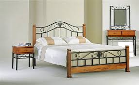 iron bed furniture. Wood And Iron Bedroom Furniture Bed W