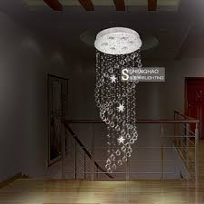 modern fashion long double spiral staircase chandelier lamp light circular room villa minimalist chandelier lighting hanging wir in on