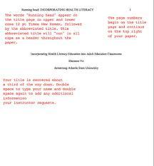 Formatting Apa Headings And Subheadings