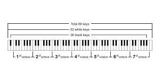 Piano Chords Or Piano Key Notes Chart On White Background
