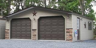 24x28 customized two car garage with vinyl siding