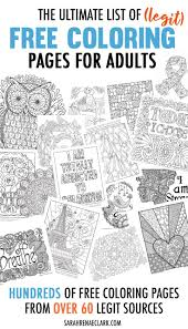 Hundreds Of Free Adult Coloring Pages