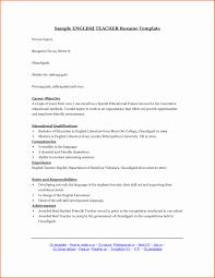 Resume Format For Applying Lecturer Post New Teacher Application