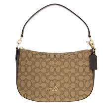 COACH. Women s Signature Chelsea Crossbody Bag Khaki brown