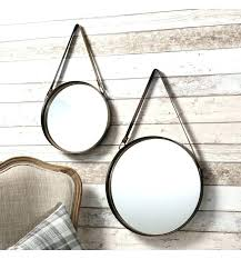 round mirror with strap circle mirror set round mirror mirror set x with leather strap mirror