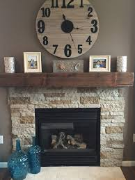 lowe s air stone and barn beam mantle