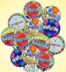 Give them a little extra lift with a festive arrangement of Congratulations  Mylar balloons. Selected