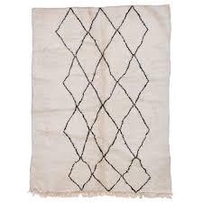 beni ourain moroccan rug with three column diamond pattern