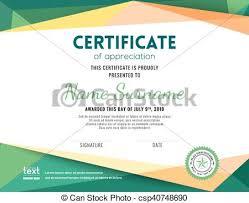Modern Certificate Background Design Template Modern Certificate