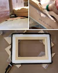 Design your own picture frame License Plate Make Your Own Giant Picture Frame Using Trim Pieces Olens Technology How To Build Custom Frame Out Of Trim Pieces Reality Daydream