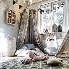 Kid Bed Canopy Bed Curtain Round Dome Hanging Mosquito Net Curtain Zanzariera For Baby Kids Reading Playing Home Klamboe Stop Baby From Climbing Out ...