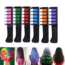 zinnor hair chalk b 6pcs set mini disposable personal salon use hair dye b