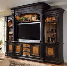 hooker furniture entertainment center. North Hampton 74-Inch Entertainment Console Home Theater Wall In Textured Black Finish With Hand Painted Decoration By Hooker Furniture Center O