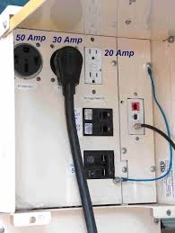 using a 50 to 30 amp rv power adapter rv basics com rv power pedestal has a 50 amp outlet you can use it instead