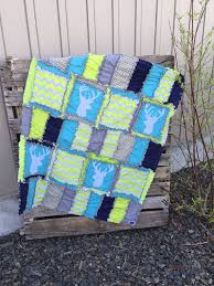 b lime green navy blue aqua and gray woodland baby quilt and nursery crib bedding