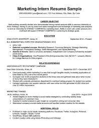 Resume Samples For Internships Marketing Internship Resume Samples Intern Sample Download Digital