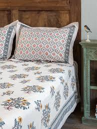 wild poppies cp blue green leaf trellis graphic pillow sham saffron marigold