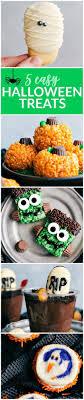 5 super easy Halloween treats -- mummy cookies, graveyard pudding cups,  Frankenstein kripsies