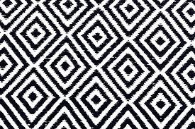 black white geometric rug and pattern diamond cotton images 1 square