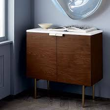 Best Slim Console Cabinet Delphine Bar Cabinet West Elm | Storage ...