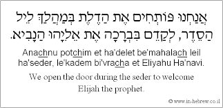 Image result for open the door for eliyahu image