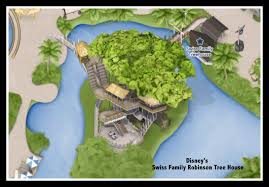 google map disney s swiss family treehouse