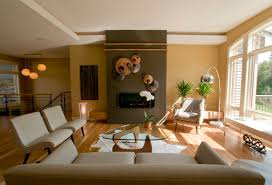Brown Living Room Ideas with Wall Accents