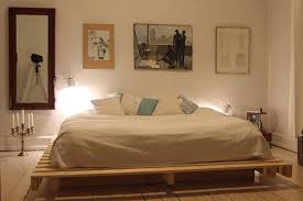 #19 BEDROOM DESIGN WITH WALL ART AND PALLET BED
