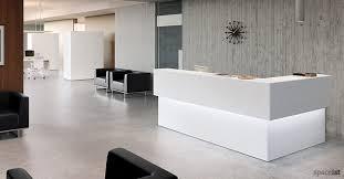 45 white corner reception desks ...