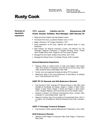 Cover Letter For Cook Resume