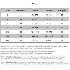 Reebok Jersey Size Chart Reebok Football Jersey Size Chart