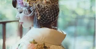 和装花嫁さん必見和装髪型に似合うリボンヘッドドレス特集