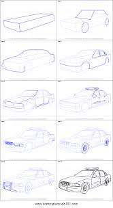 car drawing easy step by step.  Easy How To Draw A Police Car Printable Step By Drawing Sheet   DrawingTutorials101com With Drawing Easy Step By