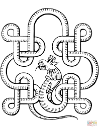 Indian Design with Snake coloring page | Free Printable Coloring Pages