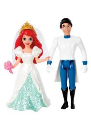 Small Picture Fairytale Wedding Ariel Prince Eric Magiclip Dolls