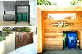 outdoor trash can wheelie bin storage cabinets outside trash can storage trash bin storage for