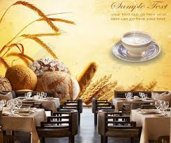 Online Shop Bakery Wallpaper Bread3d Modern Mural For Restaurant