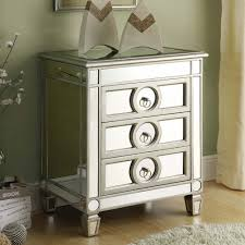 Chairside Chest Mirrored Nightstand Eco Friendly Furniture Chairside Chest  Of Drawers Is Built In Refined Proportion 3 Drawer Design Silver Finish  Mirrored ...