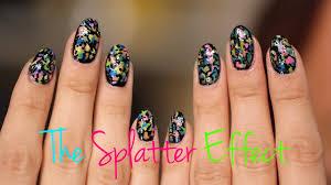 Paint Splash Nail Design How To Splatter Design Your Nails