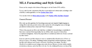 MLA Style   Format  th Edition  Citations  Instructions  Practice  Examples