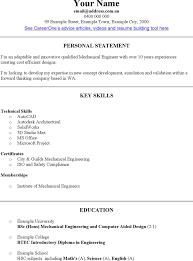 Free Mechanical Engineer Cv Template Doc 46kb 2 Page S