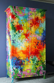 bright painted furniture. stained surface playful painted furniture double wardrobe bright n