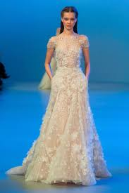 ali saab dresses - Google Search | Short sleeve bridal gown, Elie ...