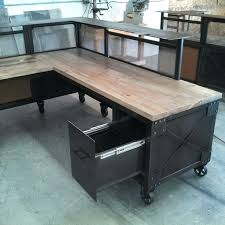 vintage metal office furniture. Fine Metal Desk Metal Office Used Steel Furniture For Sale Custom  Reception L Shaped And Beetle Kill Pine Reclaimed Vintage  Throughout R