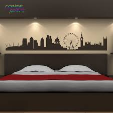 aliexpress com buy london landmarks wall sticker skyline wall