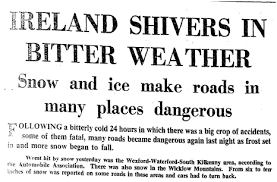 Winter 1963 Weather Charts Winter Of 1962 1963 Irish Weather Online