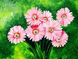 original painting of beautiful pink gerbera daisy stock ilration ilration of angios crop