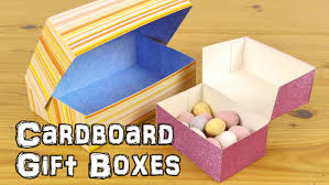 Decorating Cardboard Boxes DIY Cardboard Gift Boxes YouTube 38