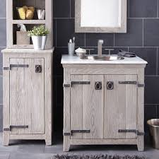 Reclaimed Wood Bathroom Cabinet Ieriecom - Oak bathroom vanity cabinets
